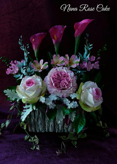 World Cancer Day Sugar flowers Collaborations  - Cake by Nana Rose Cake