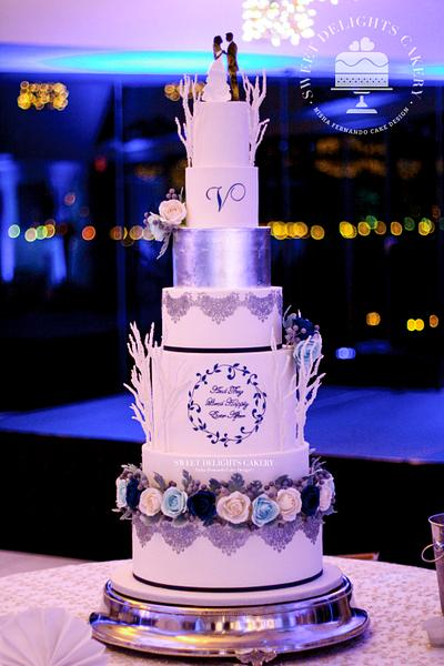 Winter Wonderland/Fairy Tale Wedding - Cake by Sweet Delights Cakery