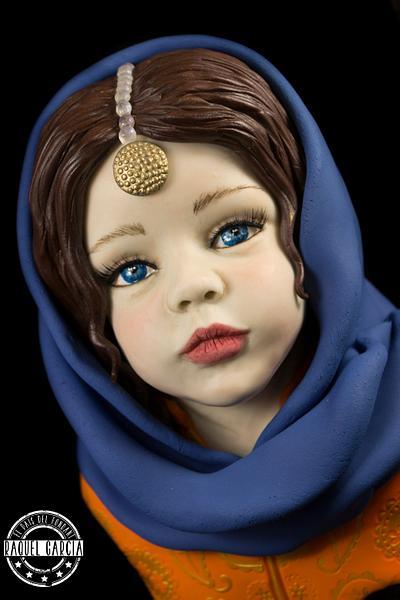 """AISHA"" ""SPECULAR PAKISTAN: AN INTERNATIONAL SUGAR ART COLLABORATION""  - Cake by Raquel García"