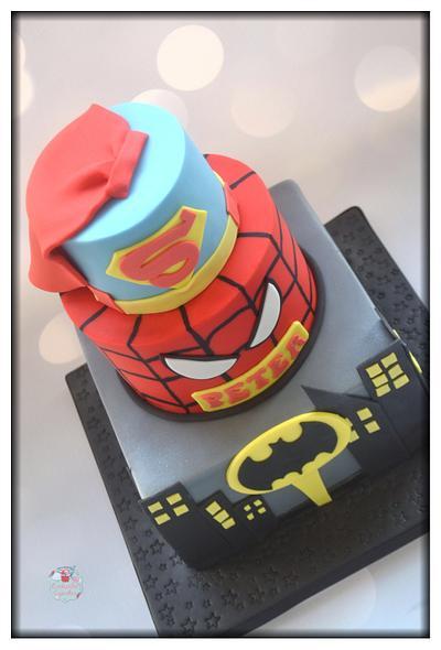 Superhero Baking a Smile Cake - Cake by Enchantedcupcakes