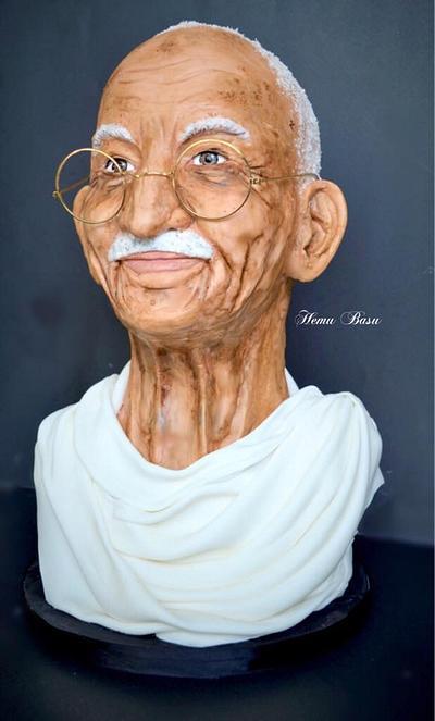 Mahatma Gandhi  - Cake by Hemu basu