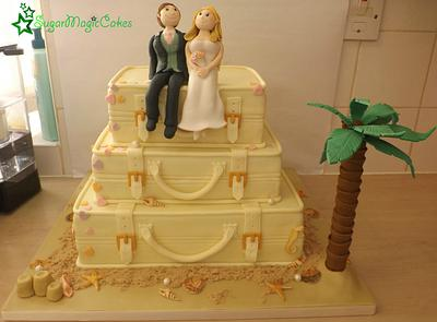 Suitcases on the Beach - Cake by SugarMagicCakes (Christine)