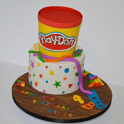 Play-Doh birthday cake - Cake by Krumblies Wedding Cakes