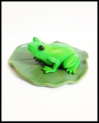 Frog on a Lilly pad - Cake by Cakemakinmama