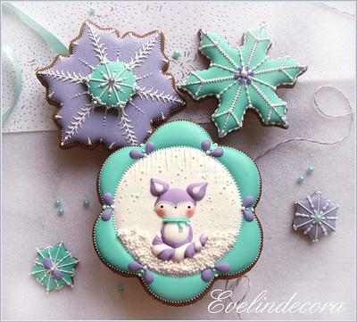 Winter fox cookies - Cake by Evelindecora