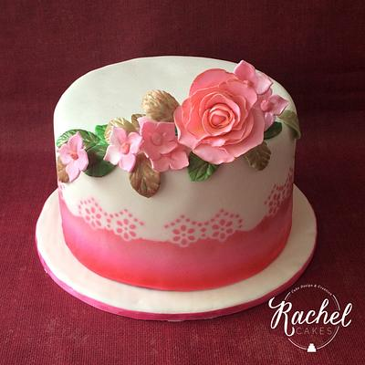 Floral Baby Shower - Cake by Rachel~Cakes