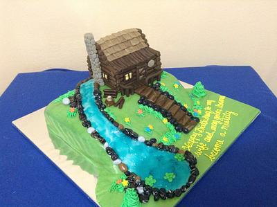 Log Cabin Cake - Cake by sweetmischiefja