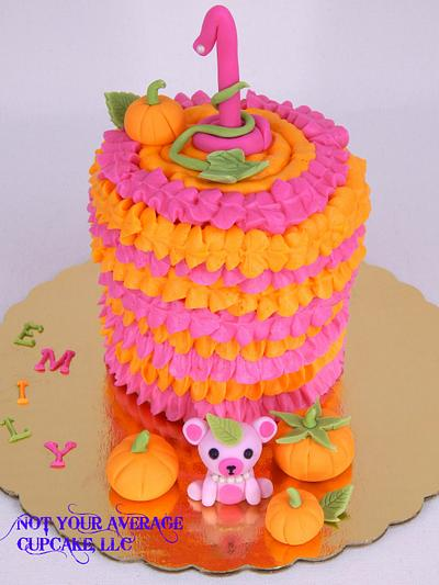 Emily's Lil' Pumpkin Smash Cake - Cake by Sharon A./Not Your Average Cupcake