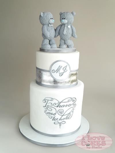 Me To You Bears Inspired Wedding Cake - Cake by I Love Cakes by Sheila