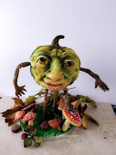 Pumpkin head - Cake by Calli Creations