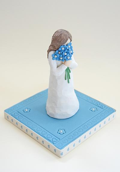 """""""Forget-me-not"""" - Too Beautiful for Earth - Cake by The Chain Lane Cake Co."""