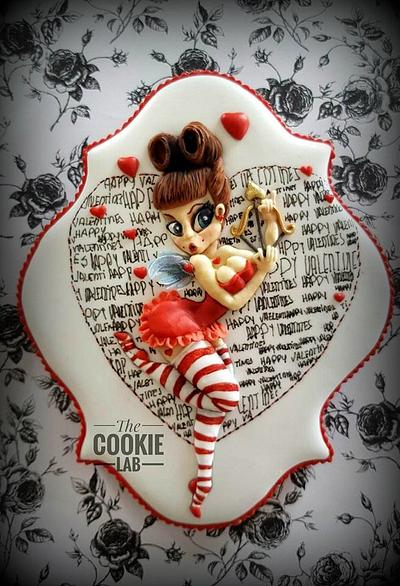 Be my Valentines -- Pinup girl - Cake by The Cookie Lab  by Marta Torres