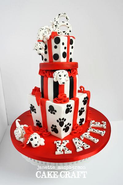 Dalmatian Birthday cake - Cake by Janette MacPherson Cake Craft