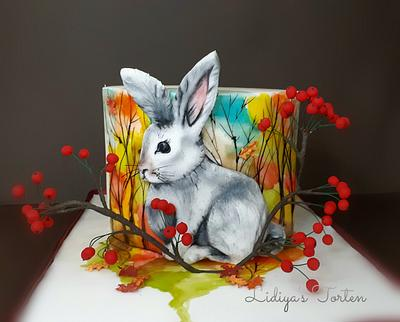 Hand painted cake (Bunny) - Cake by Lidiya Petrova