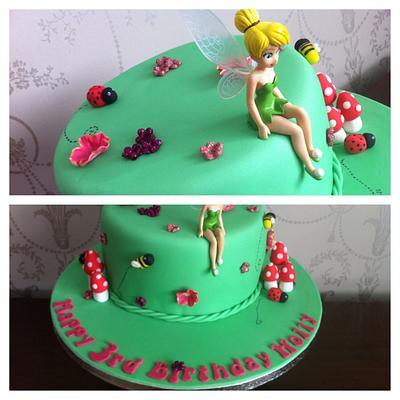 Tinkerbelle's garden.  - Cake by Hana
