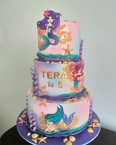 Mermaids - Cake by Couture cakes by Olga