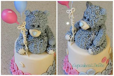 Tatty Teddy Cake for Twins - Cake by Cupcakes2Delite