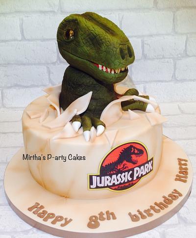 Dinosaur cake (Jurassic Park) - Cake by Mirtha's P-arty Cakes