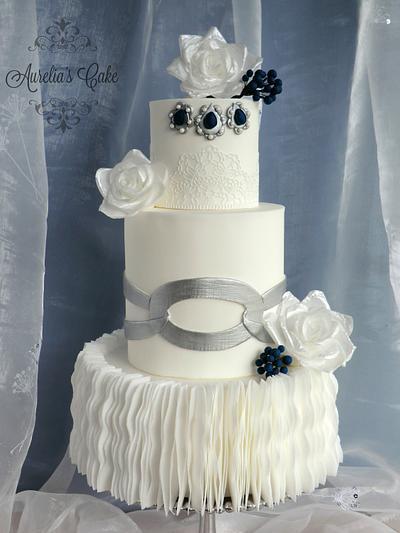 CPC Royal Wedding Dresses Collaboration - Laura Ponte  - Cake by Aurelia's Cake