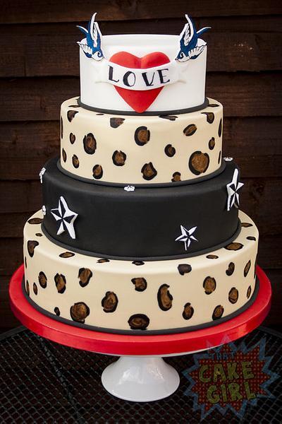 Rockabilly Wedding Cake - Cake by Rachel White