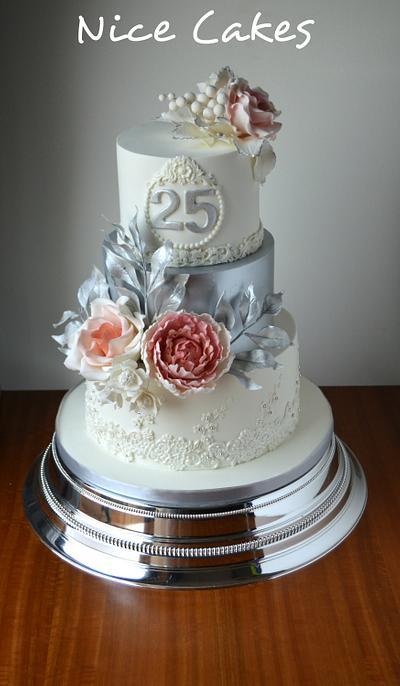 25th wedding anniversary - Cake by Paula Rebelo