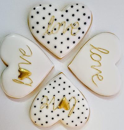 Black&White Valentine Cookies - Cake by Monika