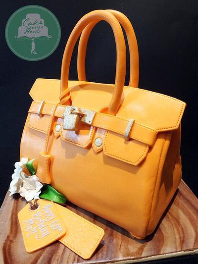 Orange Birkin - Cake by Nicholas Ang