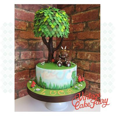 The Gruffalo and tree cake - Cake by Vintage Cake Fairy