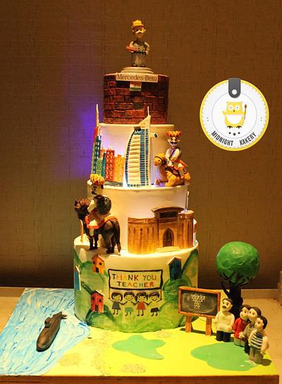 Farewell Cake - Cake by Midnight Kakery