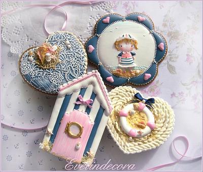 Sailor girl cookies - Cake by Evelindecora