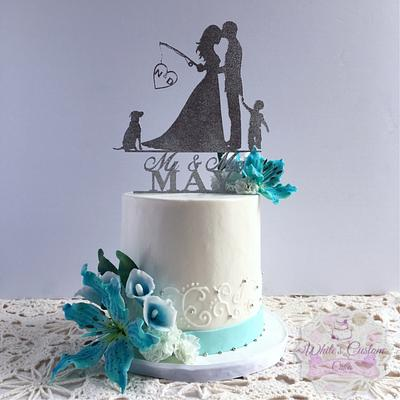 Tiffany Wedding - Cake by Sabrina - White's Custom Cakes
