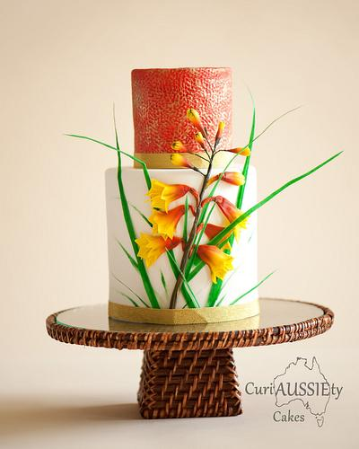 Super cake mom's collaboration...Australian Christmas Bell wildflower  - Cake by CuriAUSSIEty  Cakes