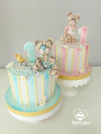 for twins - Cake by MOLI Cakes