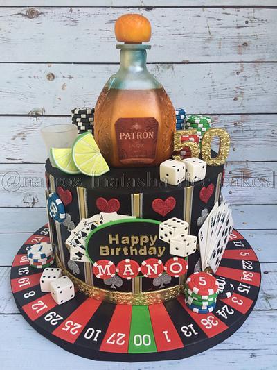 Casino themed 50th birthday cake - Cake by Natasha Rice Cakes