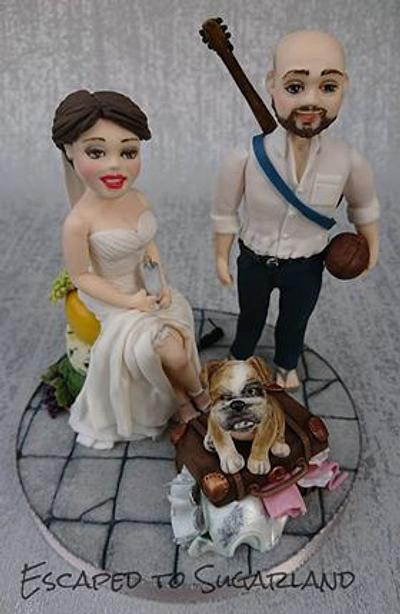 Wedding cake bride and groom topper - Cake by Escaped to Sugarland
