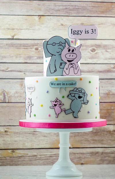 Elephant and Piggie - Cake by Maria