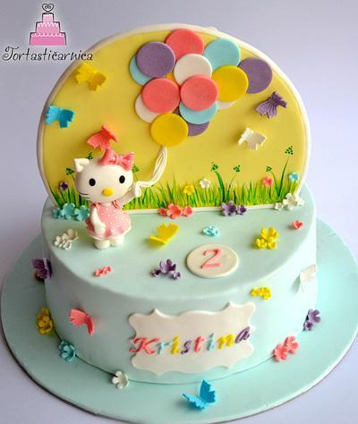 Double cake: Hello Kitty and Dusty :)  - Cake by Nataša