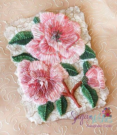 Embroidered Flowers  - Cake by Tina Tsourtsoulas