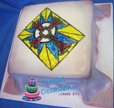Stained Glass Christening Cake - Cake by Special Occasions - Cakes, Etc