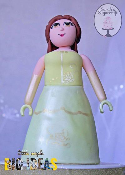 Belle lego mini figure - Cake by sarahssugarcraft