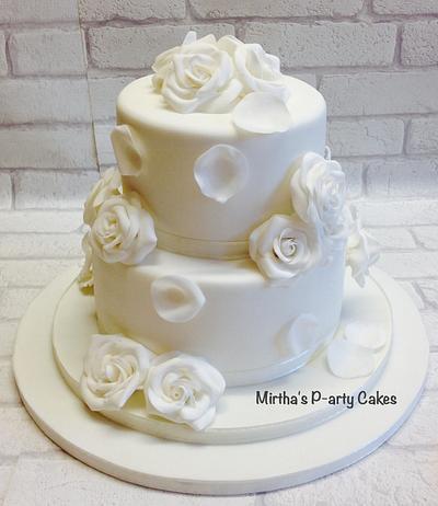 Wedding cake!  - Cake by Mirtha's P-arty Cakes
