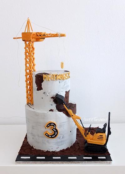 Concrete construction cake - Cake by SWEET architect