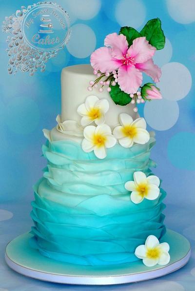 Hawaii themed wedding cake - Cake by Beata Khoo