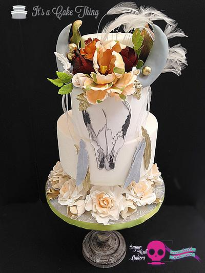 """""""Tierra"""" for Sugar Skull Bakers 2015 - Cake by It's a Cake Thing"""
