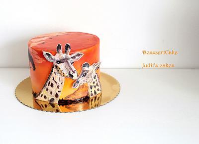 Savanna cake with giraffes - Cake by Judit