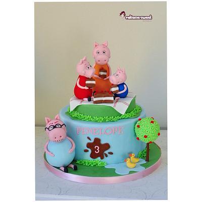 Peppa pig cake - Cake by Naike Lanza