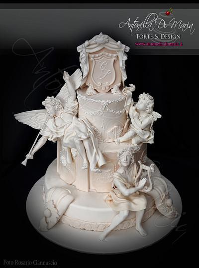 Baroque stile wedding cake - Cake by Antonella Di Maria