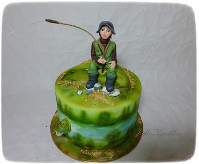 Spokojený rybář - Cake by Jitka