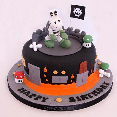 Mario Dry Bones Birthday Cake - Cake by Happy_Food