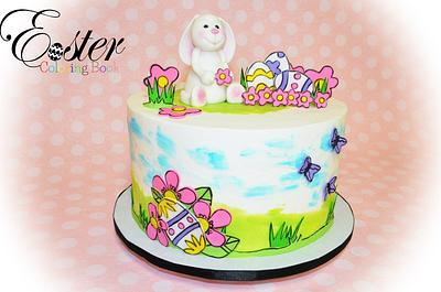 Little Bunny - Easter Coloring Book Cake Collaboration - Cake by Jeana Millan
